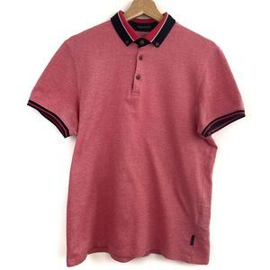 Ted Baker London Men Pink Casual Polo Shirt Size 3
